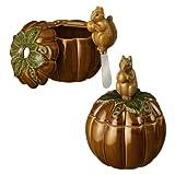 Grasslands Road Home Again Pumpkin Dip Bowl with Squirrel Spreader