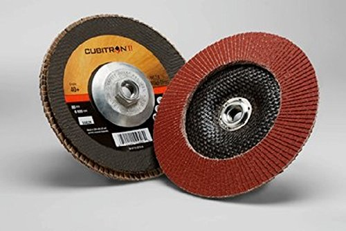 3M Cubitron II Flap Disc 967A T29 Giant 4-1//2 x 5//8-11 00051141556444 Y-Weight 40+ Manufacturer Grade T29 Giant 4-1//2 x 5//8-11 Pack of 10