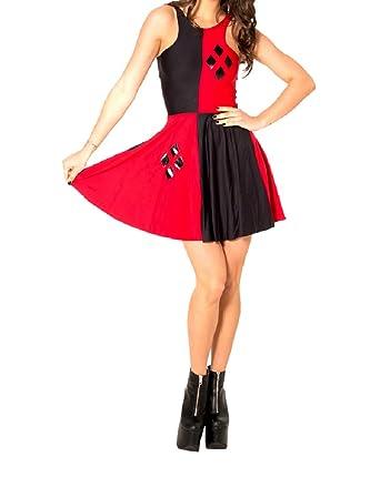 Amazon Harlequin Red Black Diamond Womens Party Dress One