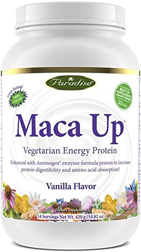 Paradise Herbs Maca Up Protein Powder, Vanilla, 15.87 Ounce