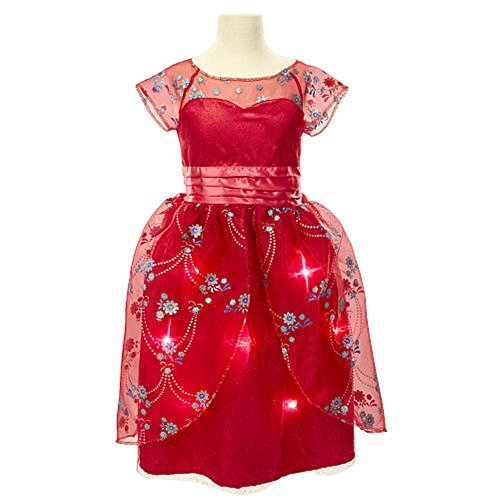 [Disney Elena of Avalor Royal Ball Gown ~ Music & Light Up Costume Dress ~ Size 4-6X] (Crown Royal Girl Costume)