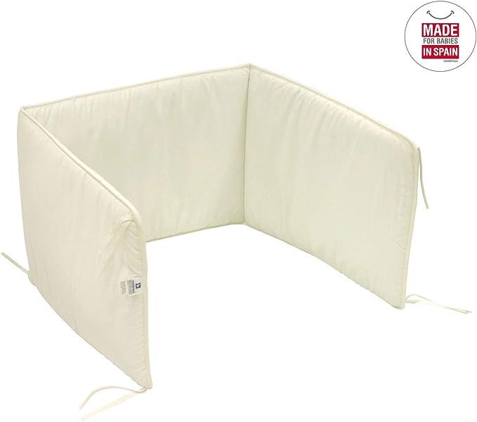 Cambrass Liso E - Protector de cuna, 60 x 40 cm, color beige