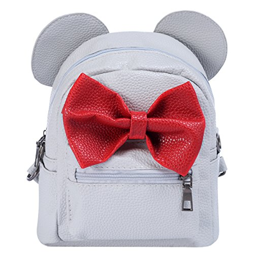 Cute Minnie Mouse Halloween Makeup (Minnie Backpack Bowknot Cute Travel Cartoon Mouse Ear School Shoulder Mini Bag for Kid Girls Teens)