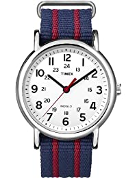Timex Unisex Weekender Central Park Slip Through Nylon Strap Black T2N747GP