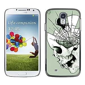 Shell-Star Arte & diseño plástico duro Fundas Cover Cubre Hard Case Cover para SAMSUNG Galaxy S4 IV / i9500 / i9515 / i9505G / SGH-i337 ( Spider Web Mind Fangs Deep Halloween )