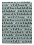 KAVKA Designs Blue Peaks Area Rug, (Blue/Grey/White) - , Size: 3x5x.5 - (JLJAVC051RUG35)