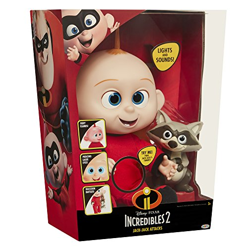 The Incredibles 2 Jack-Jack Plush-Figure Features Lights & Sounds and comes with Raccoon Toy by The Incredibles 2 (Image #8)