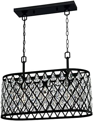 Westinghouse Lighting 6355000 Waltz Three-Light Indoor Black Finish Mesh