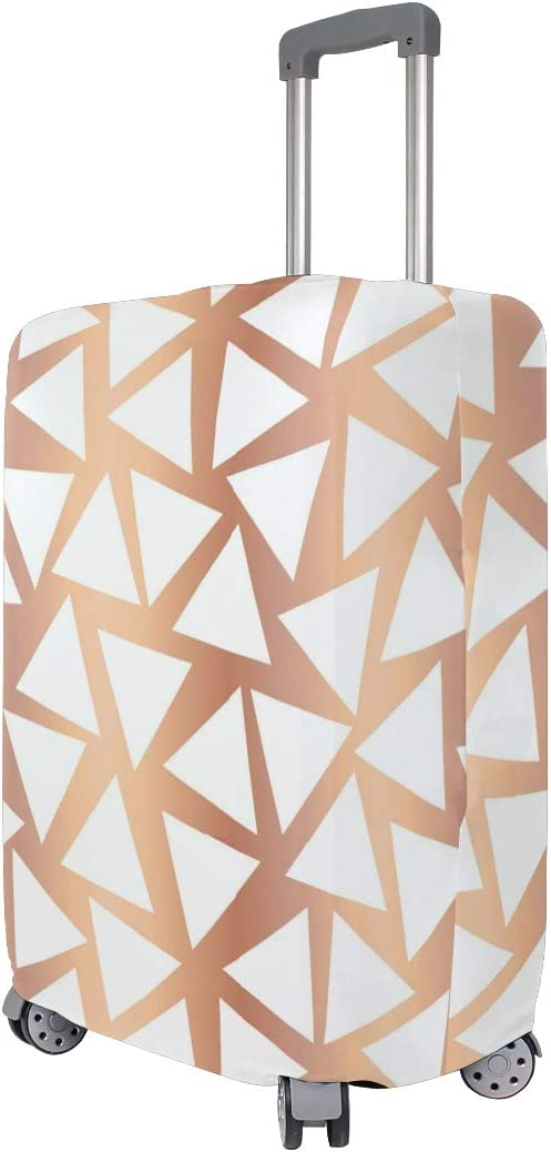 Rose Gold Triangle Pattern Travel Luggage Protector Case Suitcase Protector For Man/&Woman Fits 18-32 Inch Luggage