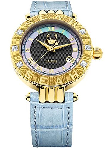 Seah-Empyrean-Zodiac-sign-Cancer-42mm-Limited-Edition-18K-Yellow-Gold-Tone-Swiss-Made-Automatic-12-carat-Diamond-watch