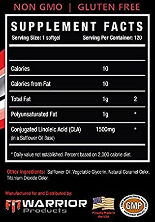 Amazon.com: CLA FAT BURN [120 geles suaves] 1500 mg quemador ...