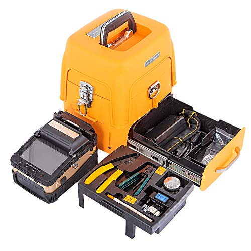 Mophorn AI-8 Fiber Fusion Splicer with 6 Seconds Splicing Time Melting Fiber Optic Fusion Splicer 15 Seconds Heating Fusion Splicer Machine Optical Fiber Cleaver Kit for Optical Fiber & Cable Projects