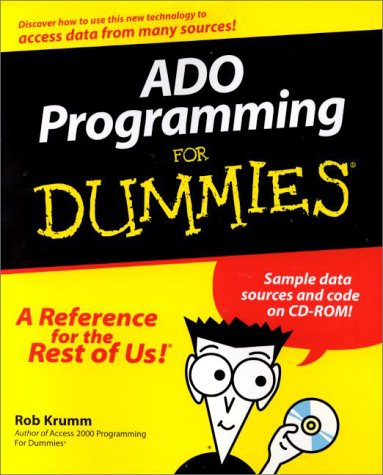 ADO Programming For Dummies by Brand: For Dummies