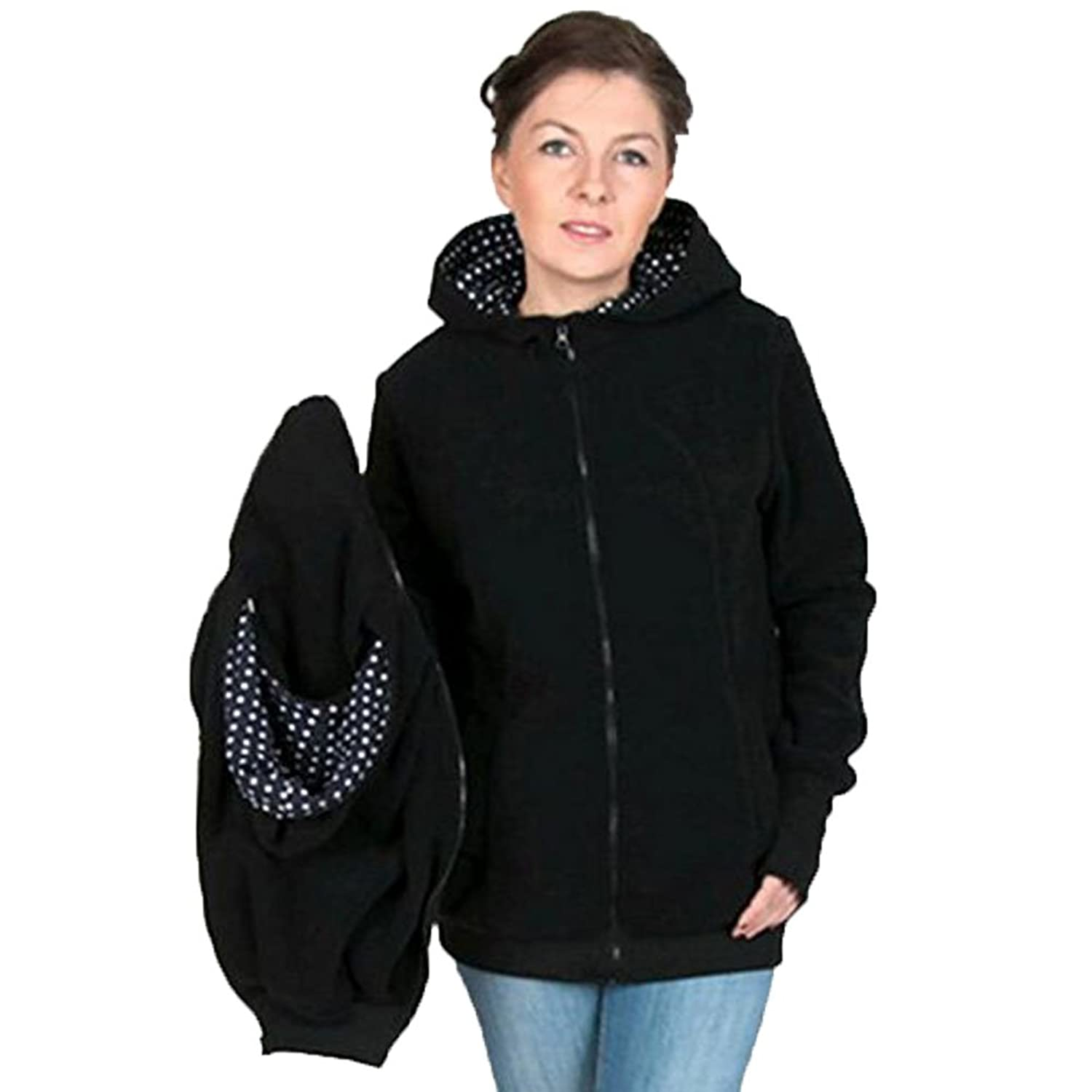 Pregnant Women Hooded Sweater with Baby Srap Backpack Highdas 3 - in - 1 Women 's Cardigan Jacket