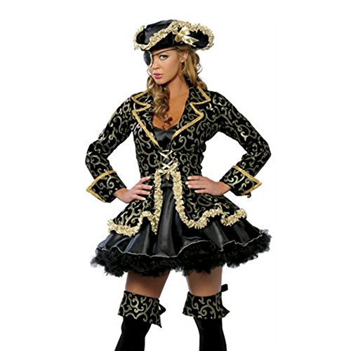 Lovery Valley Plus Size Queen of Pirate Adult Roleplay Costume