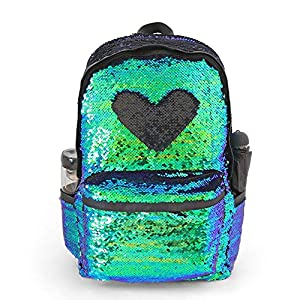 "Magic Reversible Sequin School Backpack,Sparkly Lightweight Back Pack for Girls and Boys, 17""(H)12¼""(L)4¾""(W)"