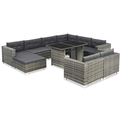 Amazon.com : Daonanba Comfortable Outdoor Sofa Set Poly ...