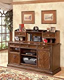 Faenza Traditional Wood Medium Brown Large Credenza with Hutch