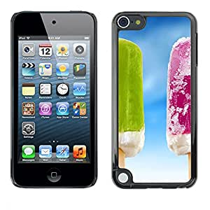 PC/Aluminum Funda Carcasa protectora para Apple iPod Touch 5 Ice Cream Summer Frozen Fruit Sky / JUSTGO PHONE PROTECTOR