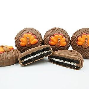 Best Epic Trends 51HSDXKuOYL._SS300_ Philadelphia Candies Milk Chocolate Covered OREO® Cookies, Thanksgiving Tom Turkey Gift Net Wt 8 oz