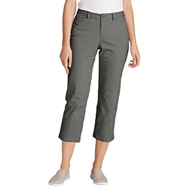 b8036eb1f15 Eddie Bauer Women s Stretch Legend Wash Cropped Pants - Curvy Fit at ...