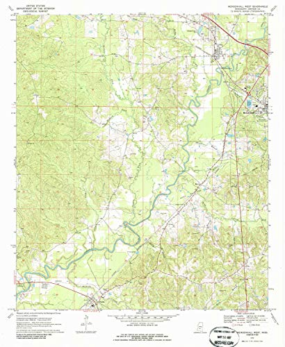 - YellowMaps Mendenhall West MS topo map, 1:24000 Scale, 7.5 X 7.5 Minute, Historical, 1970, Updated 1986, 26.8 x 22 in - Paper