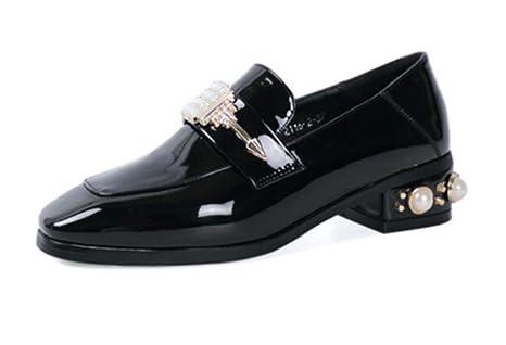 Nuovi pantaloni retrò scarpe di moda le scarpe con le scarpe quadrate  pattini della bocca poco