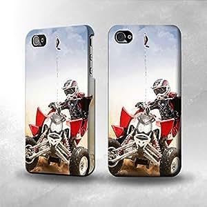 Apple iPhone 5 / 5S Case - The Best 3D Full Wrap iPhone Case - Atv Quad Racing Motocross