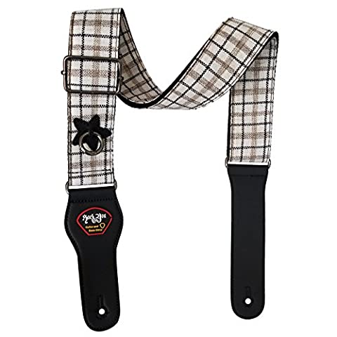 Dr.Music Woven Fresh Style Guitar Strap for Electric Bass and Acoustic Guitar with Pick Pocket, Leather Ends, Include Guitar Picks (Hippie Acoustic Guitar)