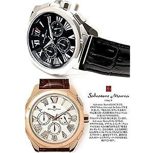 Salvatore Marra Chronograph Watch Men's SM14122-SSBK