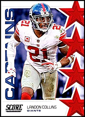 buy online 5ab98 d7705 Amazon.com: 2019 Score Captains #16 Landon Collins New York ...