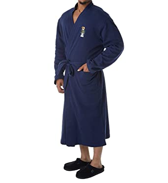 ac4482d353 Polo Ralph Lauren Men s Long Sleeve Fleece Kimono Robe Cruise Navy Toggle  Bear Small