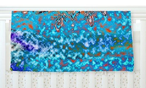 KESS InHouse Li Zamperini Turquoise Mandala Art Blue Aqua Fleece Baby Blanket 40 x 30 [並行輸入品]   B077Z37J6G