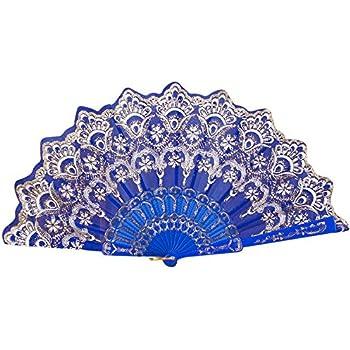 Amazon.com: Fan-Ling - Abanico de encaje de seda estilo ...