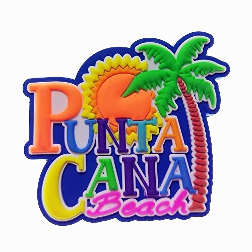 Punta Cana, Dominican Republic Tourist Travel Souvenir 3D Rubber Fridge Magnet GIFT IDEA ()