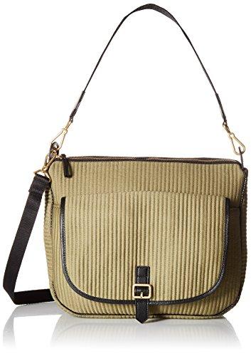 Vera Bradley Carson Waxed Canvas Shoulder Bag, Cactus Green