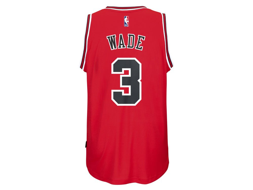 e1e1e8f2af2 Amazon.com   Outerstuff Dwyane Wade Chicago Bulls  3 NBA Youth New Swingman  Road Jersey Red (Youth Large 14 16)   Sports   Outdoors