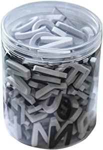 Lzttyee Decorative Magnetic EVA Alphabet Letters/Arabic Numerals for Refrigerator/White Board (117pcs Letters White)