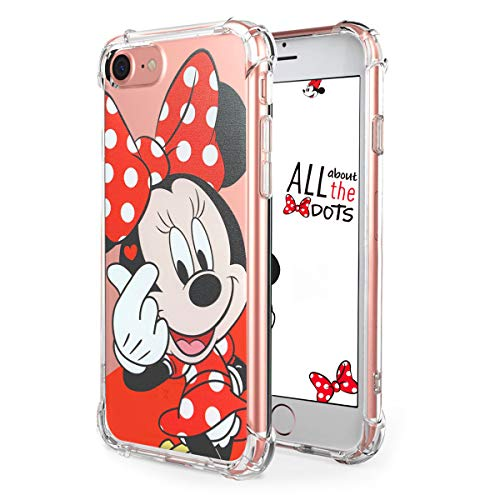 Logee TPU Minnie Mouse Cute Cartoon Clear Case for iPhone SE/5S /5 /5G,Fun Kawaii Animal Soft Protective Cover,Ultra-Thin Shockproof Funny Creative Character Cases for Kids Teens Girls Boys (iPhoneSE) (Iphone 5s Cases Disney)