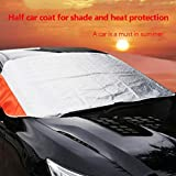Quaanti 1pcs Universal Car Snow Ice Protector Visor Sun Shade Fornt Rear Windshield Cover Block Shields Car-Styling (Sliver)
