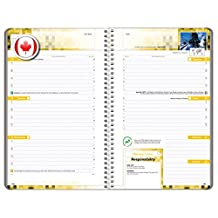 "Canadian Themed Middle School / High School Student Planner - 2016-2017 School Year - Middle School / High School Content- 5.5"" x 8.5"""