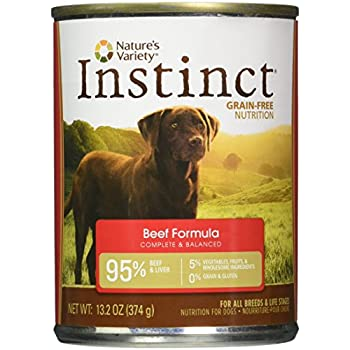 Nature's Variety Instinct, Grain-Free Canned Dog Food, Beef, 13.2 Ounces (Single Can)