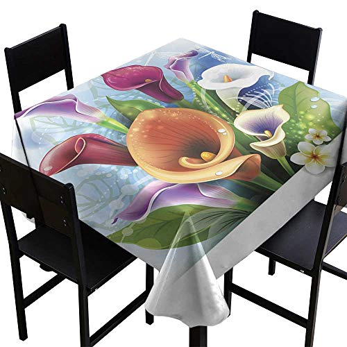Table Cover for Kitchen Bouquet of Calla Lilies,W60 x L60 for Cards