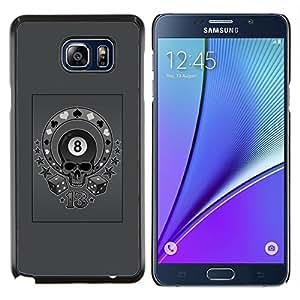 """Be-Star Único Patrón Plástico Duro Fundas Cover Cubre Hard Case Cover Para Samsung Galaxy Note5 / N920 ( Gris Ocho 8 Ball Skull Circus Poker"""" )"""