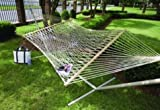 Castaway Deluxe Taupe Polyester Rope Hammock