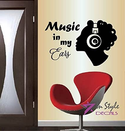 Amazoncom Wall Vinyl Decal Home Decor Art Sticker Silhouette Music