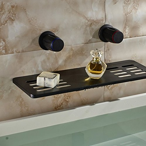 GOWE Waterfall Widespread Bathroom Faucet Oil Rubbed Bronze Solid Brass Vessel Sink Mixer Tap 1