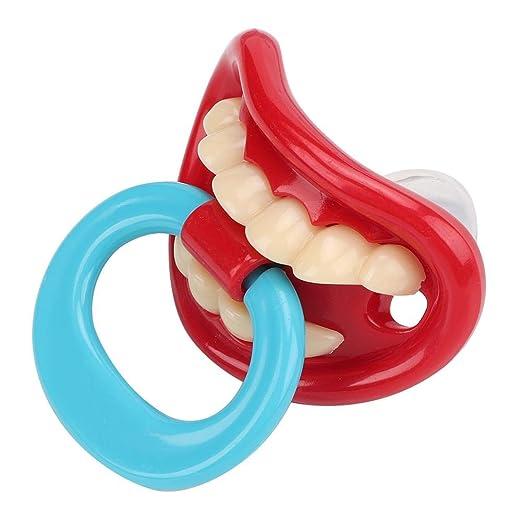 Mini portátil de silicona suave chupete dentición juguete ...