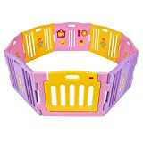Best Choice Products Baby Playpen Kids 8 Panel Safety Play Center Yard Home Indoor Outdoor Girls – Pink Review