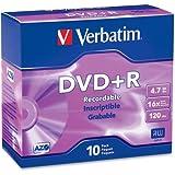 "Verbatim America, Llc - Verbatim 95097 Dvd Recordable Media - Dvd+R - 16X - 4.70 Gb - 10 Pack Slim Case - 2 Hour Maximum Recording Time ""Product Category: Storage Media/Optical Media"""